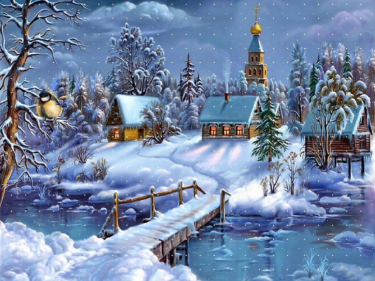 Открытка с наступающим рождеством христовым церковные