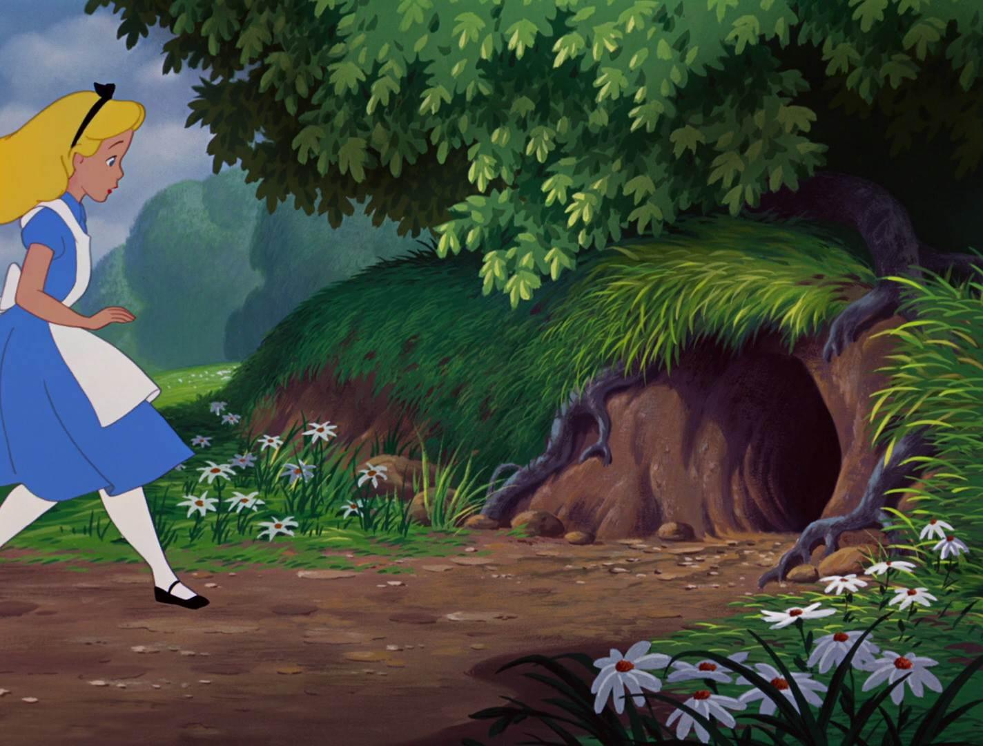 Алиса в стране чудес картинки нора
